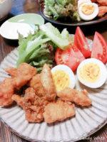 糖質制限|鶏のから揚げの衣を高野豆腐で作る
