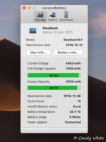 macOS10|Apple製品のバッテリー劣化具合を表示できるアプリ coconutBattery