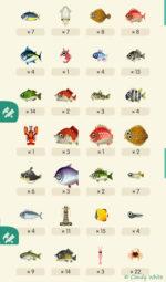 ポケ森|2020年春の「虫と魚」一覧 記念にスクショ
