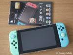 Nintendo Switch 100均ガラスフィルム貼り。ドックにも入る。